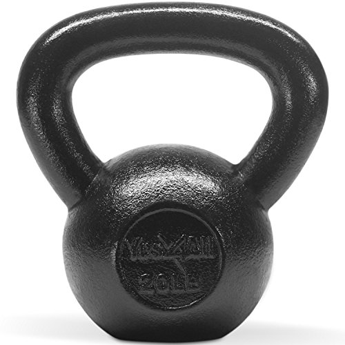 (Single) Solid Cast Iron Kettbell (20 LB) - ²K5THZ