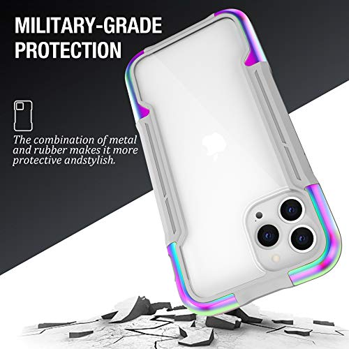 Case for iPhone 12 Pro/12/12 Pro Max/12 Mini Case,Edge Shockproof [Military Grade Drop Tested] Cases Durable Metal Aluminum Frame+Flexible TPU+PC Protector(For iPhone 12 Pro Max,Black with Gray)