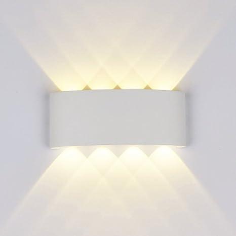 Lampade da Parete Moderne,8W LED Applique da Parete Esterne interne ...