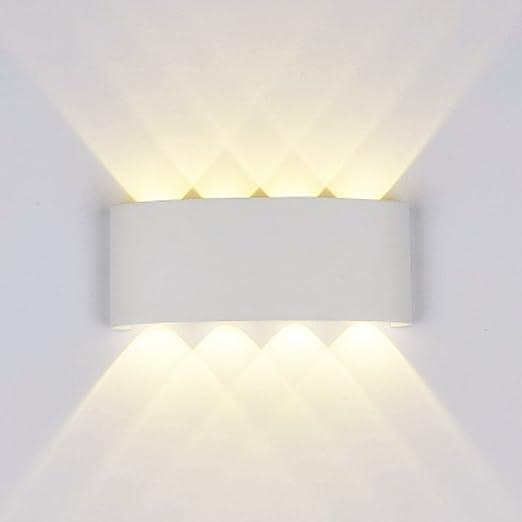 Lámparas Apliques De Pared,8W Modern Led Luz Lámpara de pared aluminio Impermeable IP65 Lamparas para Dormitorios, Salon, Comedor Jardín De Lluminación de ...
