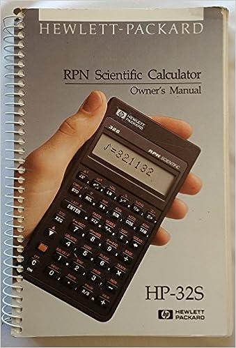 Hewlett Packard HP 32s RPN Scientific Calculator Cell Phone ...