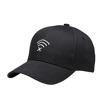 VORCOOL Patrón WiFi Gorras de Béisbol Bordado Hip Hop Ajustable Casquillo Unisex Exterior Sombreros equipados para Mujeres Hombres (Negro): Amazon.es: ...