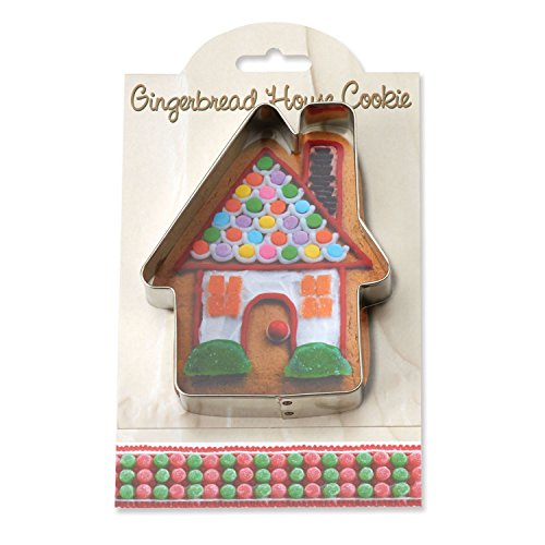 Gingerbread House Cookie and Fondant Cutter - Ann Clark - 4.5 Inches - US Tin Plated Steel