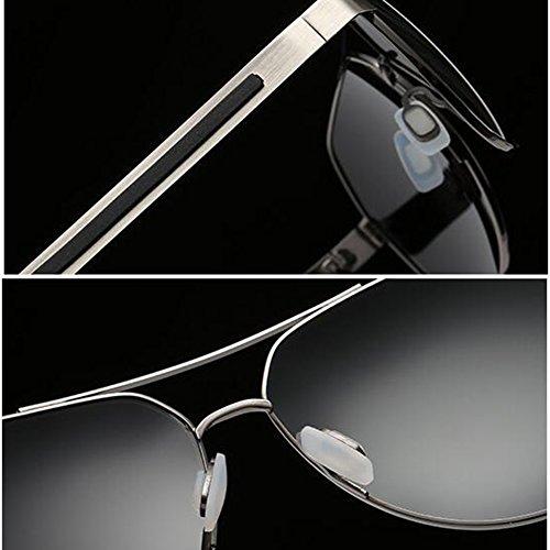 De WYYY Negro Polarizada UVA 100 Protección Negro Conducción De Gafas Gafas Gafas Solar Hombres UV Coloreado Color Anti Reflexivo Libre Caja Sol Clásico Aire Cuadrada Protección Luz FXqrwF