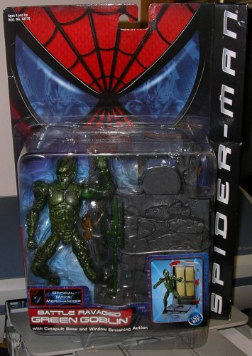 "SPIDER MAN "" GREEN GOBLIN "" BATTLE RAVAGED GREEN GOBLIN MOC"