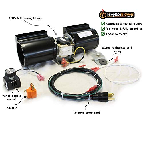 - GFK-160 Fireplace Blower Kit for Heat N Glo, Hearth and Home, Quadra Fire