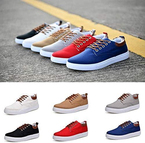 WFQGZ Chaussures De Sport pour Hommes, Chaussures De Sport pour Étudiants, Chaussures Blanches Sauvages, Chaussures De Sport, Chaussures De Sport pour Hommes, Toile-H_46_