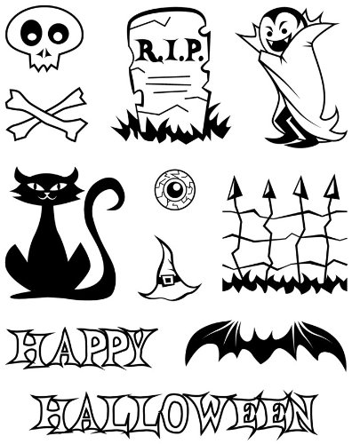 Karen Foster Design, Clear Stamp Set, Halloween -