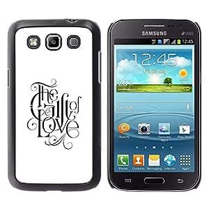 Smartphone duro PC Carcasa protectora para Samsung Galaxy Win I8550/Phone Case TECELL Store/regalo de amor caligrafía dios fe cristiana