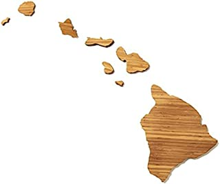 "product image for AHeirloom: The Original State Shaped Serving & Cutting Board. (As Seen in O Magazine, Good Morning America, Real Simple, Brides, Knot.) Made in the USA from Organic Bamboo, Large 15"" (Hawaii)"