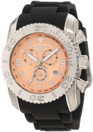 Swiss Legend Men's 20066-09B Commander Chronograph Rose Textured Dial Watch (Mens Commander Chronograph Watch)