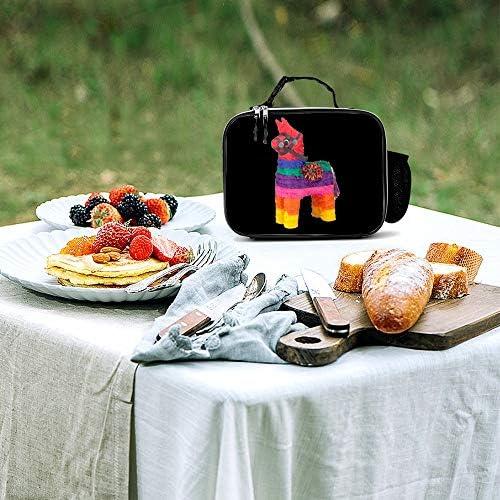 ジェラルド 女性男性大人の大学の仕事のピクニックのための取り外し可能な革食事パックランチバッグ