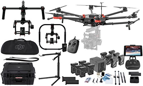 "DJI Matrice 600 Pro Hexacopter Drone Combo - Includes 6X TB47S Batteries + 6X TB48S Batteries + Battery Charging Hub + CrystalSky 7.85"" Ultra Bright Monitor + Ronin MX Stabilizer + Ronin Grip & More"