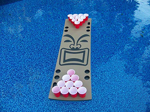 Tiki Guy Foam Floating Beer Pong Table - 6ft, Foam, All Weather, Portable - Floats Anywhere …