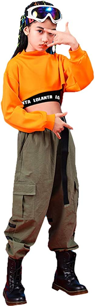 Nina Chaleco Pantalones Cargo Camiseta Naranja Conjunto De 3 Piezas Ropa De Hip Hop Para Ninas Elegante Traje De Baile Callejero Ropa Grupobrtelecom Com Br