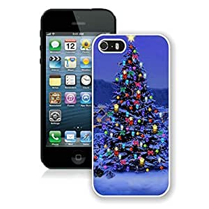 Fashion Style Iphone 5S Protective Cover Case Christmas Tree iPhone 5 5S TPU Case 29 White by icecream design