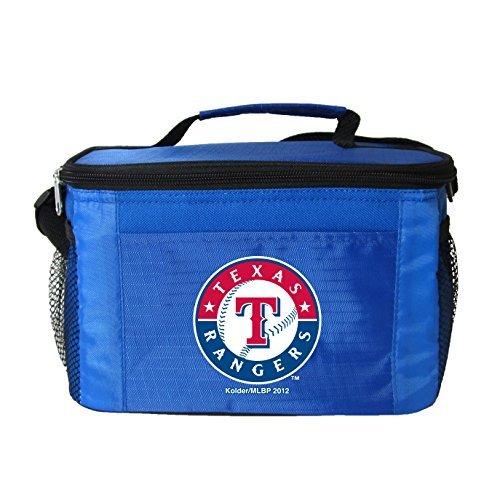 - New MLB Baseball 2014 Team Color Logo 6 Pack Lunch Bag Cooler - Pick Team (Texas Rangers)