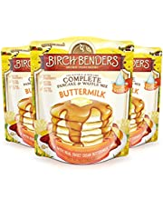 All Natural Buttermilk Pancake and Waffle Mix by Birch Benders, Made with Real Sweet Cream and Buttermilk, Non-GMO Verified, 72 Ounce (24oz 3-pack)
