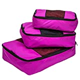 TravelWise Packing Cube System - Durable 3 Piece