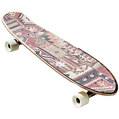 GLOBE Skateboards Big Blazer Cruiser Complete Skateboard, Natural/Burle, 32