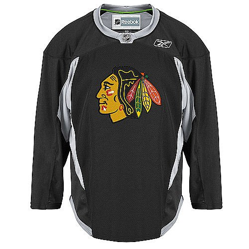 Youth Chicago Blackhawks Black Practice Jersey NHL Reebok Official (Large/X-Large)