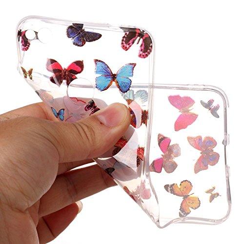 Funda Huawei P8 Lite 2017, SpiritSun Soft Carcasa Funda Diseño Mate Opaco Ultrafina TPU Bumper para Huawei P8 Lite 2017 (5.2 pulgadas) Suave Silicona Piel Carcasa Ultra Delgado y Ligero Goma Flexible  Butterfly