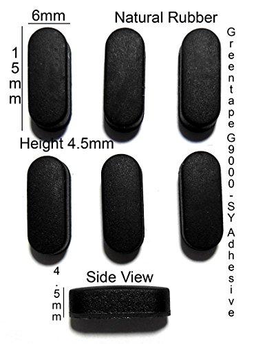 Rubber Feet 15mm(L)x 6mm(W)x 4.5mm(H) Self Adhesive 6pcs [RB46]