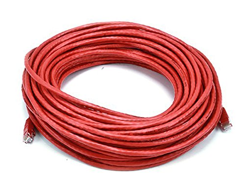 Monoprice 75FT 24AWG Cat6 550MHz UTP Ethernet Bare Copper Network Cable - Red by Monoprice