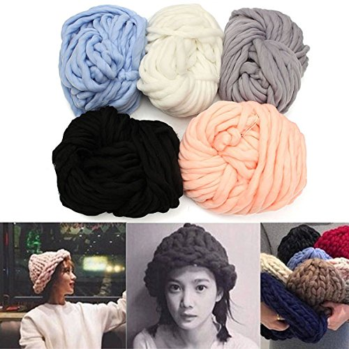 Brand new Five Color Scarf Knitted line Warm Hat Hooded Scarf Earflap Best for Beginning Knitter - (New Earflap)