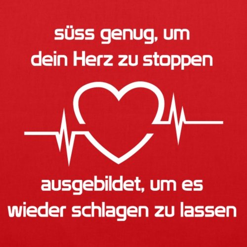 Spreadshirt Lebensretter Herz Schlagen Lassen Stoffbeutel Rot 8mFXZn1Yr