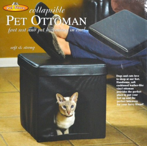 Collapsible Pet Ottoman 2 in 1! Foot Rest & Pet Hideaway.