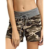 Aifer Women's Camouflage Bottoms Activewear Drawstring Pants Workout Yoga Shorts