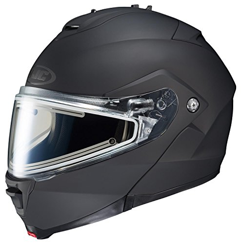 Helmet Snowmobile Modular (HJC IS-MAX2SN Modular Snow Helmet Frameless Electric Shield (Matte Black, Large))