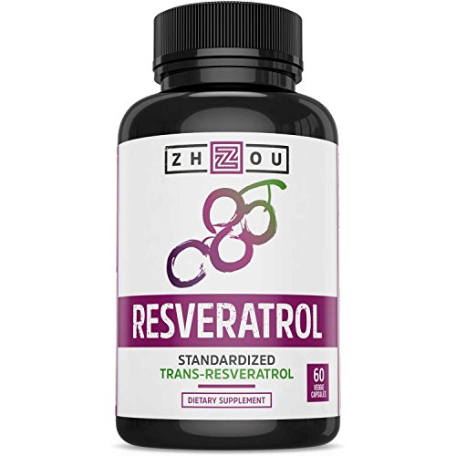 Resveratrol Supplement for Healthy Aging, Immune System & Heart Health Support – Standardized to 50% Trans Resveratrol – Powerful Antioxidant Benefits – 60 Vegetarian Capsules