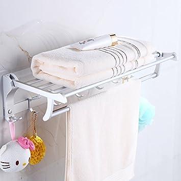 WSS Doble parrilla espacio doblado de aluminio baño toalla estante baño estante de la toalla . [bk98] a patent: Amazon.es: Bricolaje y herramientas