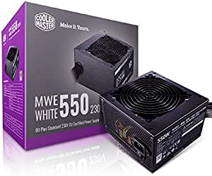 Cooler Master MWE 80Plus White 550W 230V 80Plus Single +12V Rail Silent Mode DC-to-DC Power Supply - Black - MPE-5501-ACABW-AU