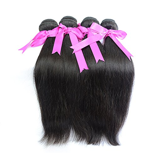 Price comparison product image SINA 4 Bundles 8 HumanRemy Hair Weft Weave Virgin Peruvian Natural Color 1B 4 Bundles Same Length 400G HumanPeruvian Hair Cheap Real Hair Extension