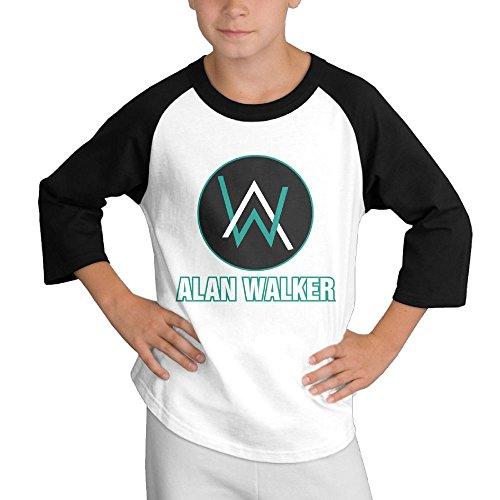 26cded7de ATOPSHOP Alan Walker Logo Youth 3/4 Sleeve Cotton Baseball Tee Shirts T- Shirt