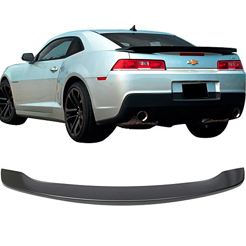 Pre-painted Trunk Spoiler Fits 2014-2015 Chevy Camaro | Factory Style Low Blade Style Painted Ashen Gray Metallic #WA810T ABS Rear Spoiler Wing Tail Other Color Available by IKON MOTORSPORTS ()