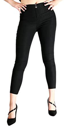 4230012a847 Wofupowga Womens Summer Skinny Mid-Rise Butt Lift Leggings Ankle Pants  Black XS