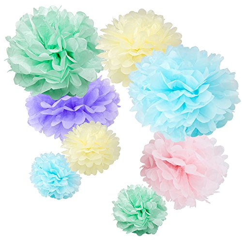 WYZworks Set of 8 (Assorted Soft Pastel Color Pack) 10