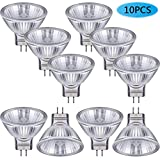 10 Pieces Halogen Light Bulbs MR11 12V 20W FTD Halogen Spotlight Bulbs, GU4 Bi-Pin Base, Glass Cover, Warm White 2700K Dimmable Precision Halogen Reflector Fiber Optic Light Bulb
