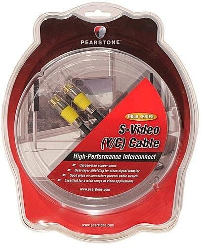 Pearstone Gold Series Premium S-Video Male to S-Video Male Video Cable 1.8 m 6
