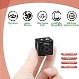 ieleacc - Mini Camera Spy Camera Hidden - HD 1080P Motion Detection Night Vision for Home Security- Tiny Nanny Cameras and Hidden Surveillance Camera(SD Card No Include)