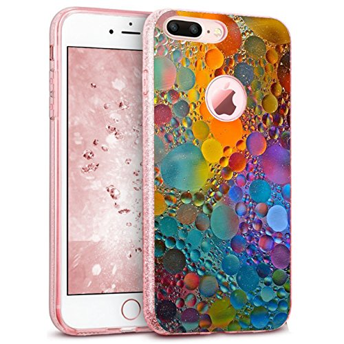 Price comparison product image iPhone 8 Plus Case, Soft TPU Shinning Glitter Sparkle Bling Bumper Cover iPhone 8 (iPhone 8, 1)