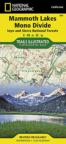 Mammoth Lakes, Mono Divide [Inyo and Sierra National Forests] (National Geographic Trails Illustrated - Wilderness Muir John Map