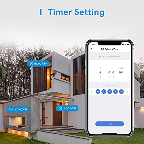 meross Outdoor Smart Plug, Outdoor WiFi Outlet with 2 Grounded Outlets, Remote Control, Timer, Waterproof, Support Amazon Alexa, Google Assistant, SmartThings and IFTTT, FCC Certified