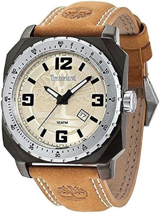 de62efc1852b Timberland Reloj Analógico para Hombre de Cuarzo con Correa en Cuero  TBL14321JSUS07