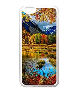 VUTTOO Iphone 6 Case, Small Mountain Lake Autumn Back Case for Apple iPhone 6 4.7 Inch - TPU Transparent