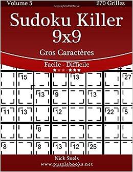 Sudoku Killer 9x9 Gros Caracteres Facile A Difficile